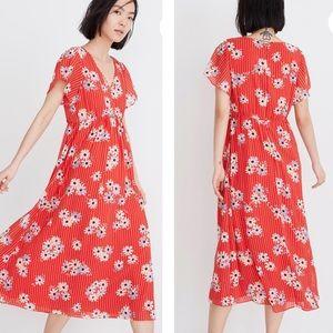 NWT | Madewell | Scalloped Flutter Midi Dress